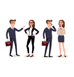 Business people with documents and gadgets vector