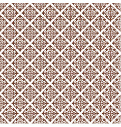 Dark red abstract damask pattern backdrop vector