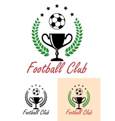 Football Club Championship emblem or icon vector image