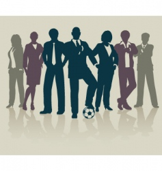 Football business team vector