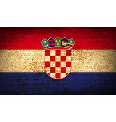 Flags croatia with dirty paper texture vector
