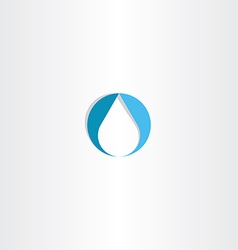 Drop water icon logo blue symbol vector