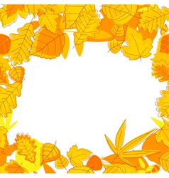 Autumnal seasonal frame vector
