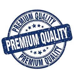 Premium quality blue grunge round vintage rubber vector