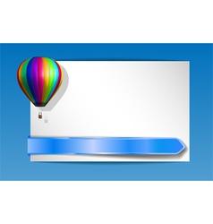 balloon banner vector image vector image