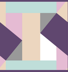 Delicate geometric seamless pattern soft color vector