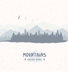 Forest mountain vector