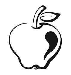 Fruit apple black pictogram vector