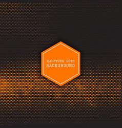 halftone dots design vector image vector image