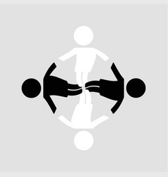 happy family community vector image