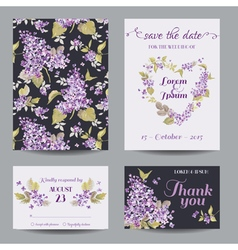 Invitation or greeting card set vector