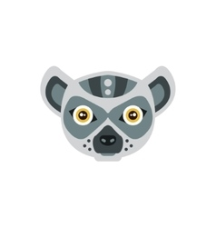 Lemur african animals stylized geometric head vector