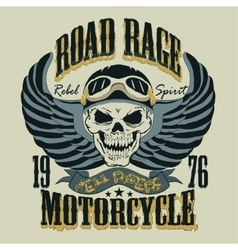Motorcycle T-shirt Design vector image vector image