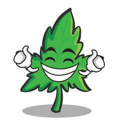 Proud face marijuana character cartoon vector