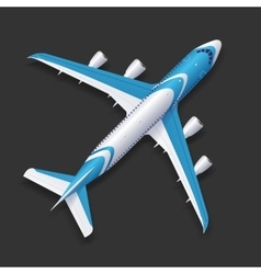 Realistic airplane template vector