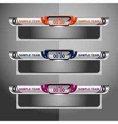 Scoreboard game sport football vector