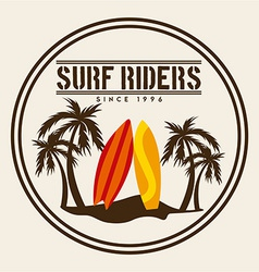 surf design vector image