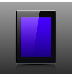 Tablet computer black color vector