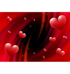 Valentines day card with abstract vortex vector