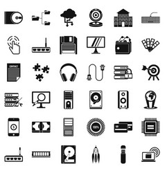 Web development icons set simple style vector