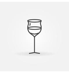 Wine glass thin line icon vector image