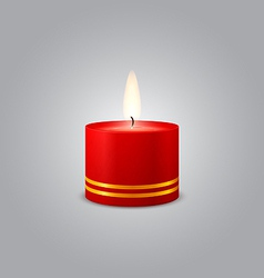 Red christmas candle vector
