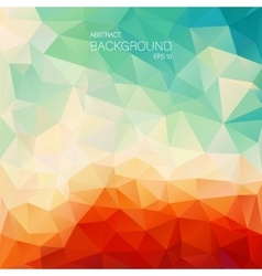 Teal orange abstract background with triangle vector image