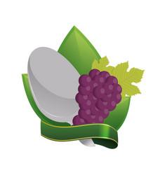 Grape vegan food fresh diet vector