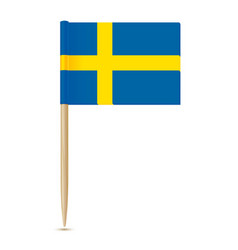 Sweden flag swedish flag toothpick 10eps vector