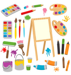 Set of isolated drawing tools vector