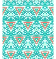 Geometric pattern with triangles and random dots vector