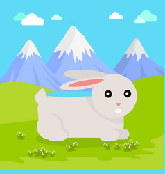 Funny hare vector