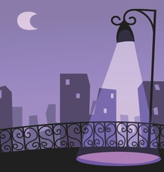 City night scene vector