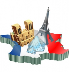 French tourism vector image