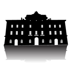 Old building silhouette vector