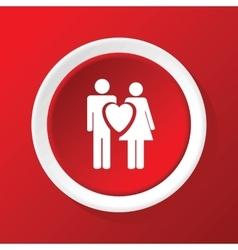 Love couple icon on red vector