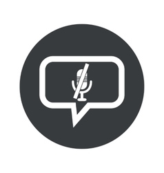 Round muted microphone dialog icon vector