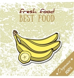 Healthy food banana vector