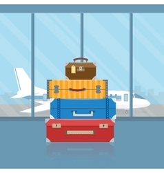 Baggage in airport vector