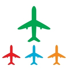 Airplane sign colorfull set vector