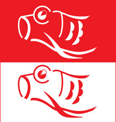 Japanese koi vector image
