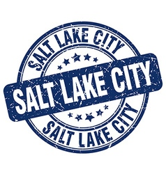 Salt lake city stamp vector