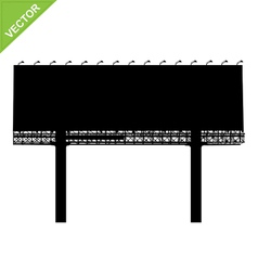Advertising billboard silhouettes vector