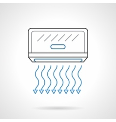Air cooling equipment flat line icon vector