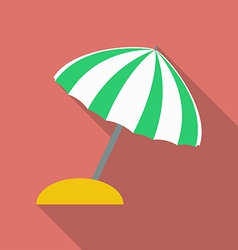 Beach umbrella icon modern flat style with a long vector