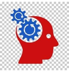 Brain gears rotation icon vector