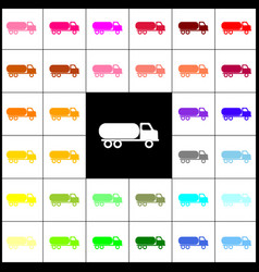 Car transports sign felt-pen 33 colorful vector