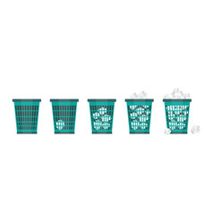 cartoon office trash recycle bin for garbage vector image vector image