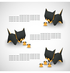 cat origami vector image