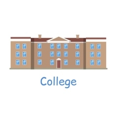 College building icon vector